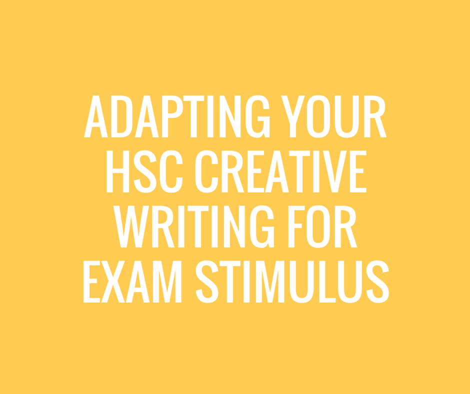 Hsc creative writing examples