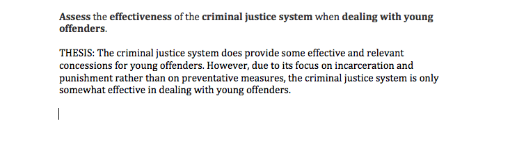 Young offenders act essay